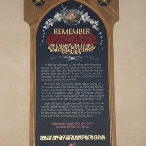 Memotrial to the firemen of Wye who saved the church in 1940