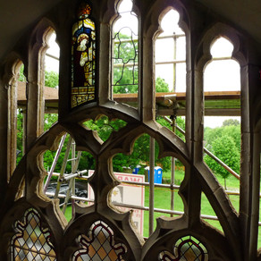 East window: removing the glass