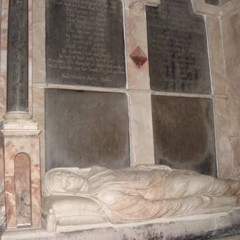 Amy Clarke (née Moyle) memorial 1631