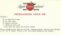Smorgasbord Apple Pie 1959