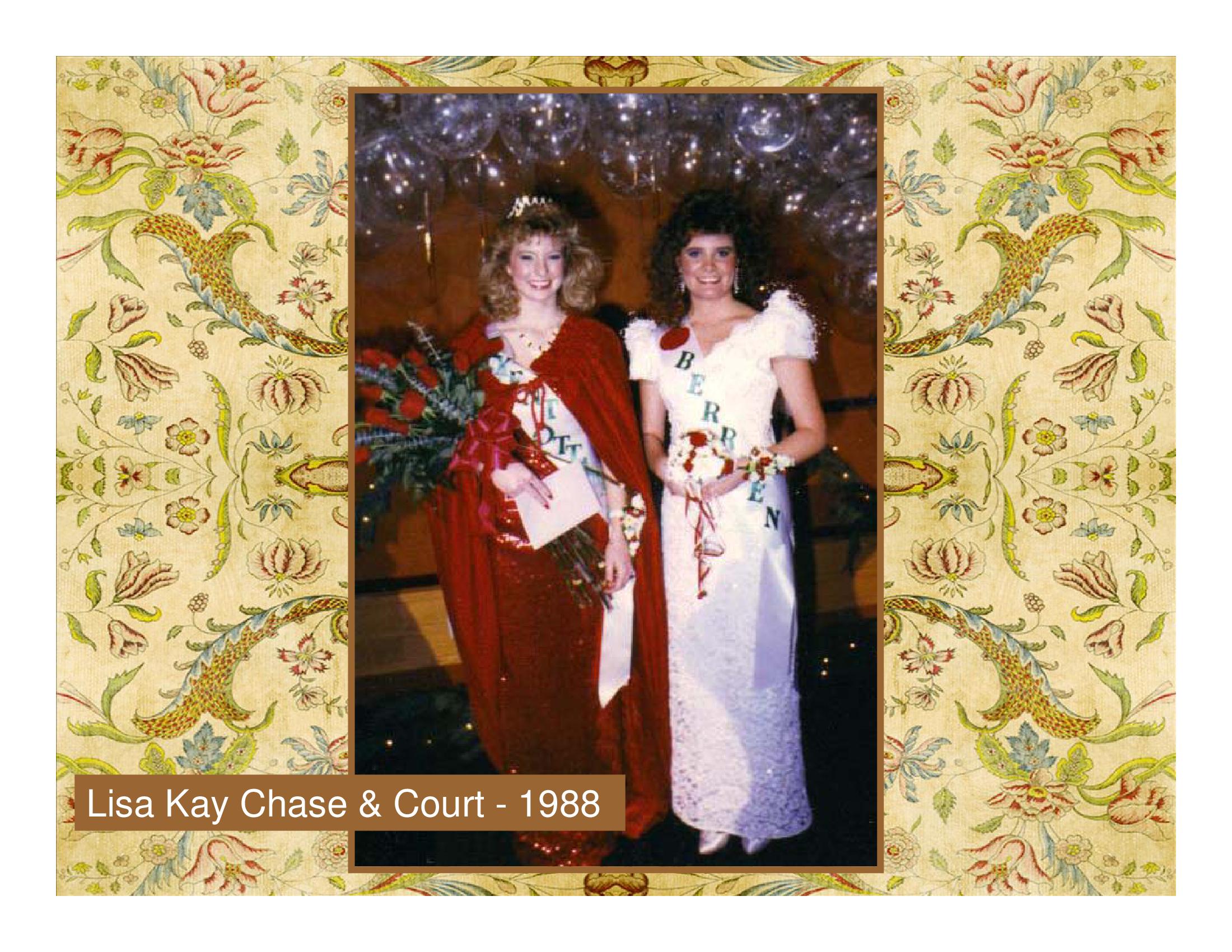 Lisa Kay Chase & Court - 1988