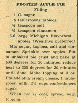Frosted Apple Pie 1958
