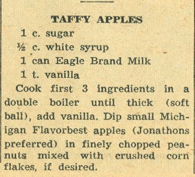 Taffy Apples 1958