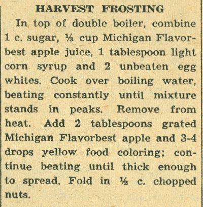 Harvest Frosting 1958