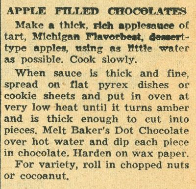 Apple Filled Chocolates 1958