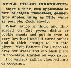 Apple Filled Chocolates 1958