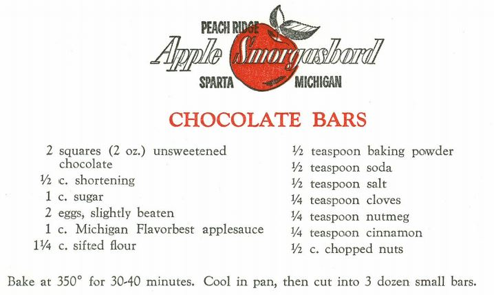 Chocolate Bars 1959