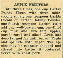 Apple Fritters 1958