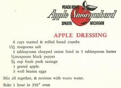 Apple Dressing 1959