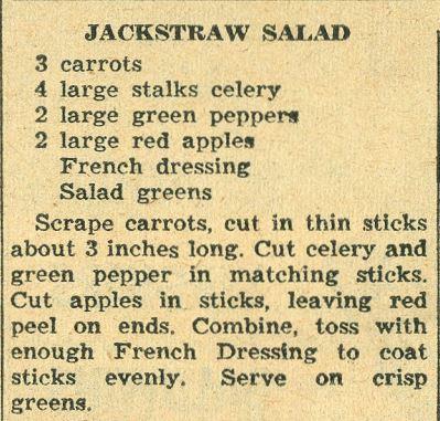 JackStraw Salad 1958