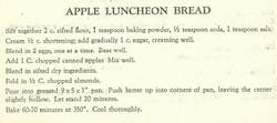 Apple Luncheon Bread 1957