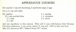 AppleSauce Cookies 1957