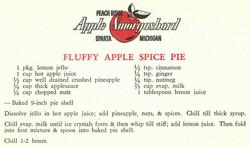 Fluffy Apple Spice Pie 1959