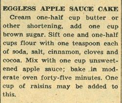 Eggless AppleSauce Cake