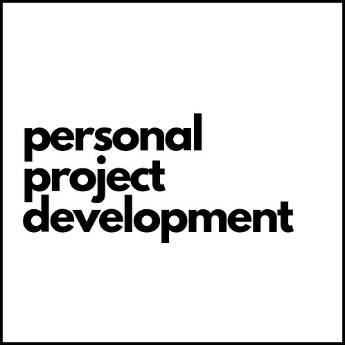 PERSONAL PROJECT DEVELOPMENT