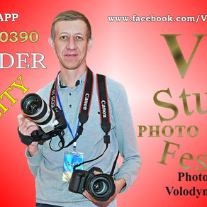 Video and photo stand with Volodymyr Golub