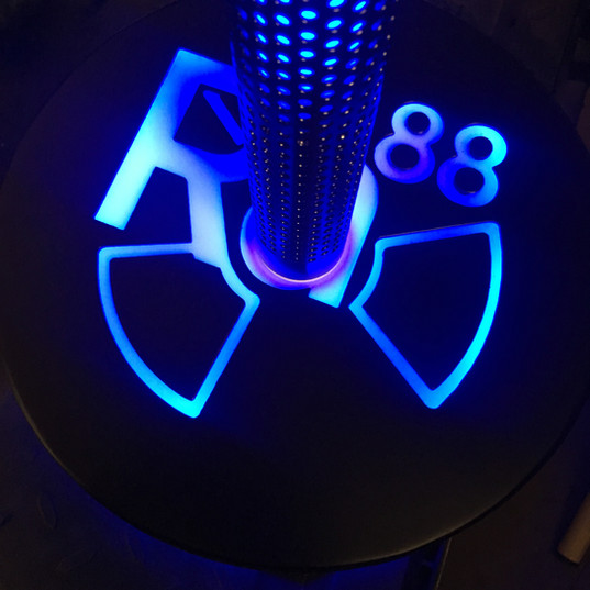 Rebel Neon Ion with Halo base with backlit base logo