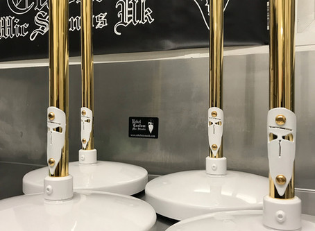 Gold Plated mic stands and microphones
