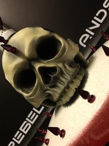 Skull and spike base