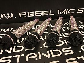 AB crystal mics, customised Sennheiser 6