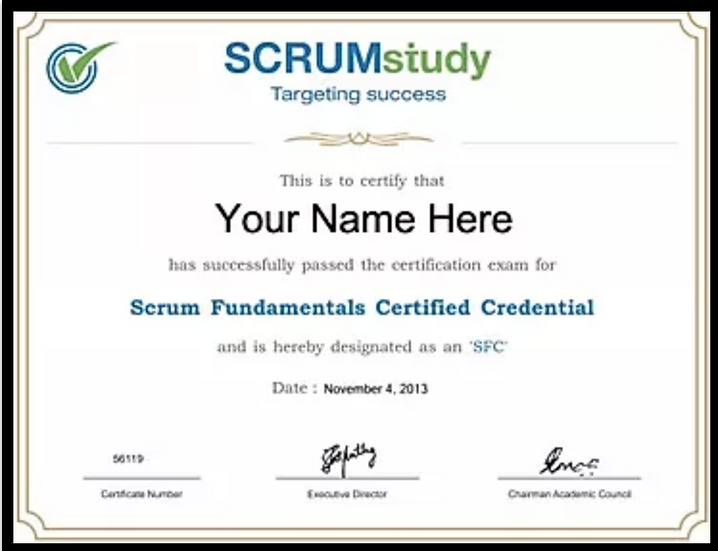 Online Introduction to SCRUM Fundamentalscourse and certification exam