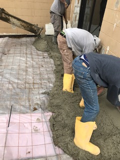 concrete contractors at work