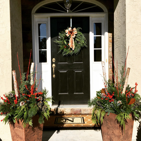 residential front door decor