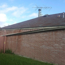 Before - Damaged roof