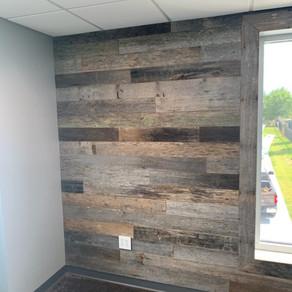 Reclaimed Resawn Barnwood Wall