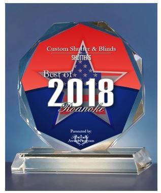 2018 Shutter Award for custm shutter and blind stor