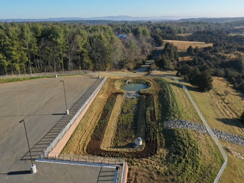 Before and after: new construction bio-retention pond