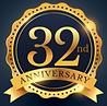 32nd-anniversary golden-badge -_1017-417