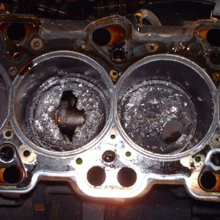 """Here is what happens when a timing belt breaks on an """"Interference Engine"""""""