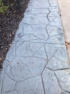 stamped concrete construction
