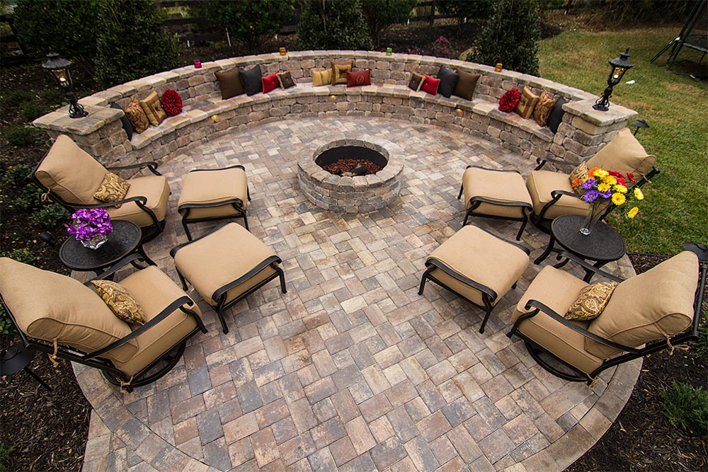 custom fire pit installation