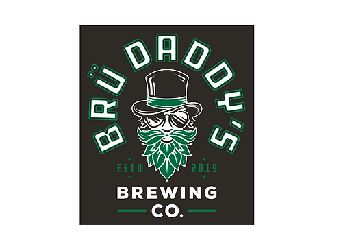 Brü Daddy's Square Sticker