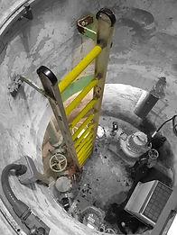 SGS pump station ladder anti-slip grip