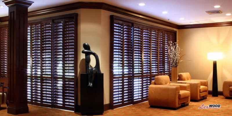 wood window shutters indoor