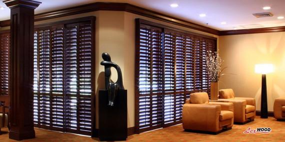 wood window shutters indoor