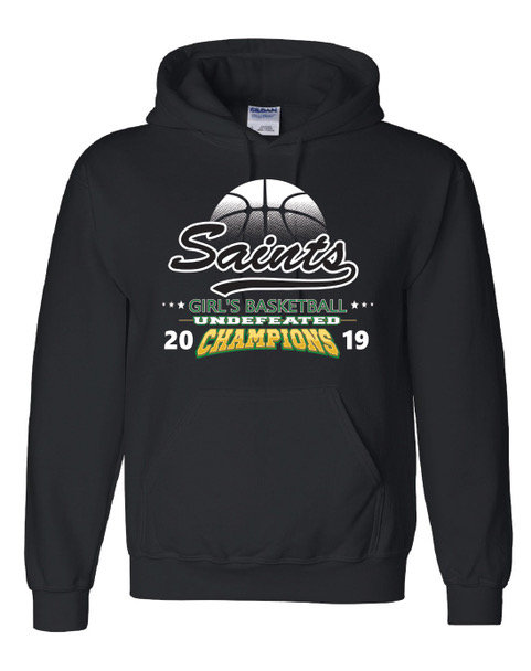 Girl's Basketball Hooded Sweatshirt