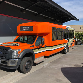 Shuttle Bus Commercial Wrap