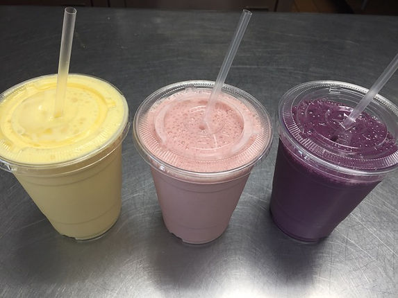 Smoothies - Mango, Strawberry Banana, and Blueberry