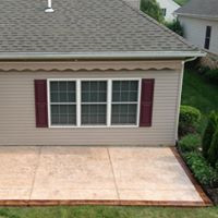back yard patio resurfacing