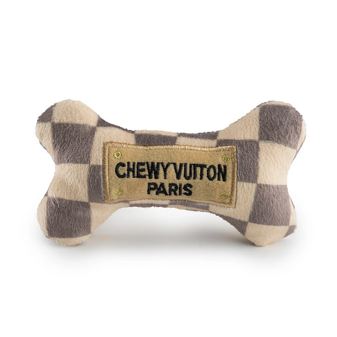 Small Cream and Brown Chewy Vuiton Bone