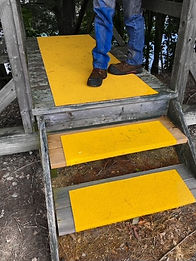 SafetyGrip Solutions no-slip grip surface on stairs