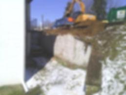 retaining wall excavation