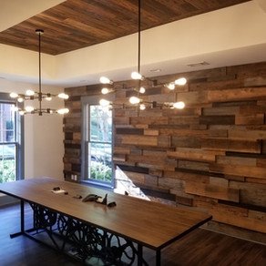 We built this wall and ceiling for a lawyer's office in Tucker, GA...