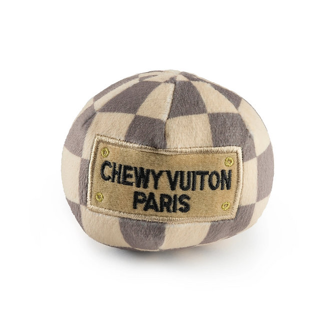 Small Cream and Brown Chewy Vuitton Ball