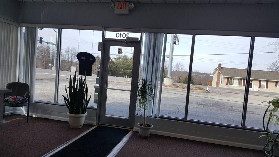 retail window installation