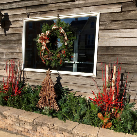 winter container garden decor lans